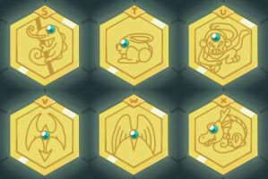 Medabots Medals S-X by neoyurin