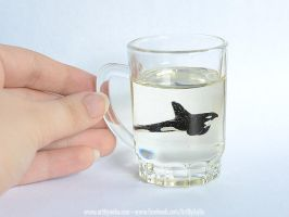 Resin Orca Shot Glass by Chaotica-I