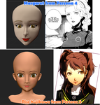 Persona 4 Modeling Practice Margaret and Rise by branden9654