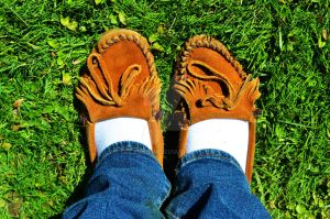Brown Moccasins by DelaneyKH