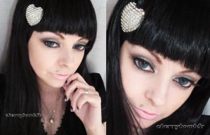 Makeup neutral party inspired look by cherrybomb-81