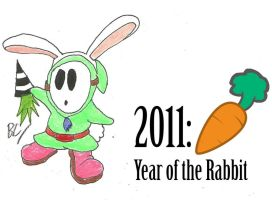 Year of the Rabbit Guy by BlackCarrot1129