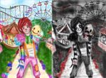 come to the circus kiddo- ranibow and evil LJ by NENEBUBBLEELOVER