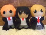 Harry, Ron, and Hermione Dolls .:Finished:. by fishcakes94