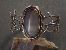 Relic- Sterling Cuff Bracelet by MarieCristine