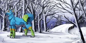 Some colours in this white world - Commission by Nereiix