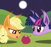 Applebat and Twilightbat - The Big Hunt by Magister39