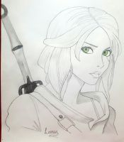 Ciri (The Witcher) by Lim0na