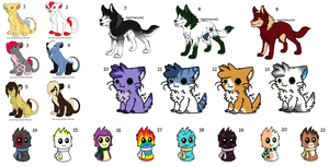 Mixed Adoptables 1 :OPEN: READ DESCRIPTION by russkiadopts
