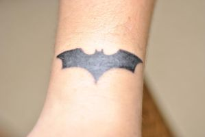 Batman Logo tattoo by Sakura-Koi