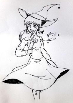 Inktober Day 31 - Witch by solcastle