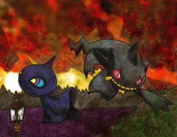 Shuppet and Banette by Macuarrorro