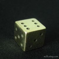 Brass dice by Sulislaw