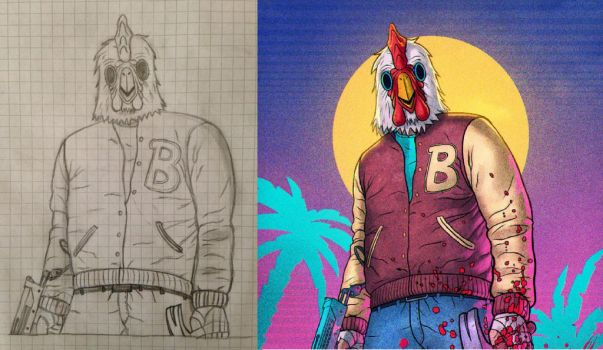 Hotline Miami 2 - Wrong Number / Payday 2 - Jacket by Sonicbest222