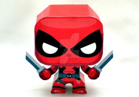 mini Deadpool Papercraft by henrydig