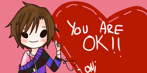 Valentine Card from Oni by RainbowSamaa