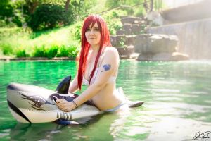 Erza sais: Time to swim! by SCARLET-COSPLAY