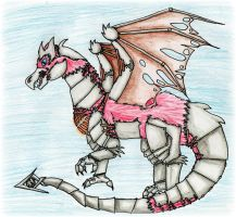 Steampunk Dragon- colored by Roseyred-1