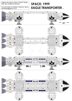 space 1999 eagle transporter by Munners