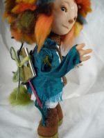 Hartwood the faun boy - OOAK doll by mammalfeathers