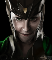 Loki - portrait by Misspic