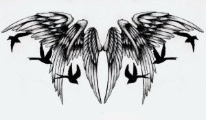 Wings Tattoo by FeelTheRomance3