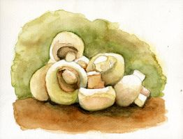 Watercolour Practise 03 by Ninelyn