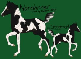 avonRDA- black tobiano foal design 2 by SweetStreamStables