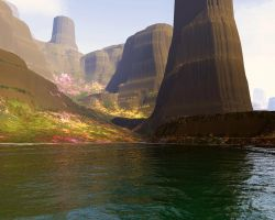 Flower-Covered Bluffs by indriojan