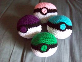 Abby's Pokeballs Group Shot 2 by IkuniHattori