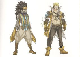 Gajeel and Laxus: Fantasia by ReyAzul