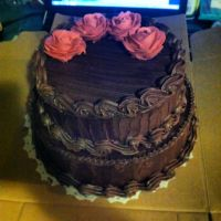 Dark chocolate raspberry cake by Sparkleschic