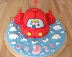 Little Einsteins Rocket Cake. by RebeccaRoseBrine