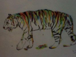 dripping paint tiger by raven-hellingjur