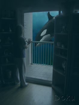 A whale on the balcony by DokuPRODUCTIONS