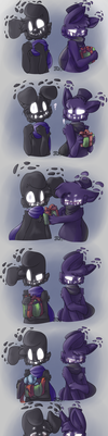 Mistletoe moment [Shadow Fronnie] by DerpySpringy