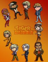 Tiger and Bunny Chibis ~Civilian Version~ by Card-Queen