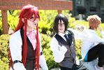 Grell and Sebastian- Filming Behind the Scenes by twinfools