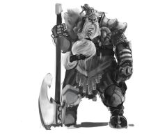 Dwarf warlord by BenedictWallace