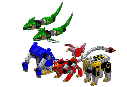Astro zords by Lysergic44