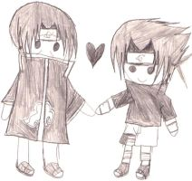 ItaSasu plushie love by Uchiha00006