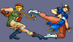SF: Cammy VS. Chun Li by SharmClucas