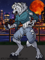 LSC: Werewolf in the City by JakkalWolf