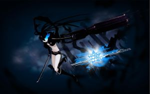 Black Rock Shooter HD WALL by FacundoLeites