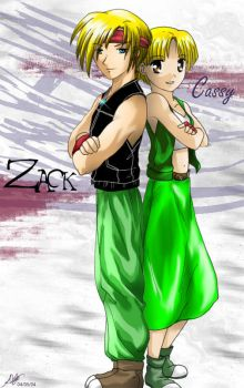Zack and Cassy by deizelyn