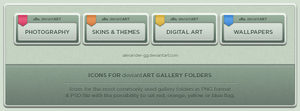 deviantART Gallery Icons by Alexander-GG