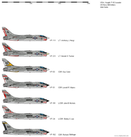Vought F-8 Cruisader USN MiG Killers by darthpandanl
