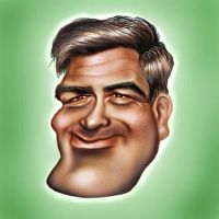 Clooney Caricature by jonesmac2006