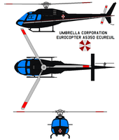 Umbrella Corporation AS350 by bagera3005