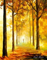 Yellow Mood by Leonid Afremov by Leonidafremov